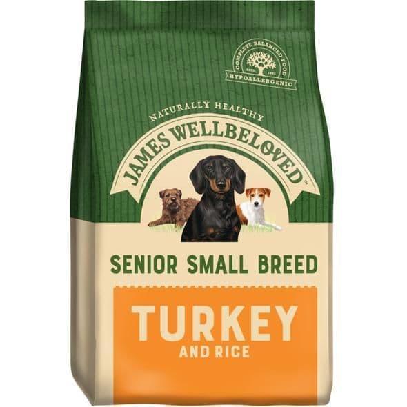 J/w senior small breed  turkey & rice